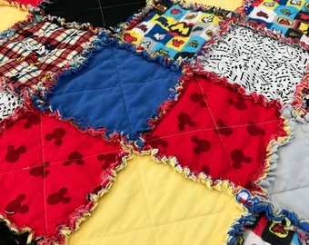 Mickey Mouse Raggy Quilt