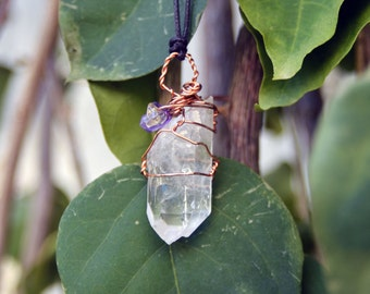 Double point quartz crystal