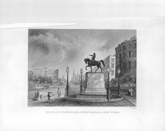 George Washington, Statue of Washington, Union Square, New York
