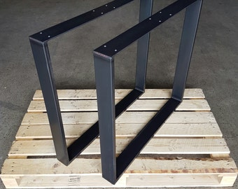 Table frame legs industrial design table kufen 73-60 steel 80-20 1 pair of table legs
