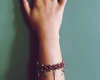 5 Charm Hemp Bracelet - Made To Order