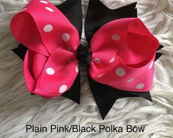 Polka & Leopard Print Bows with Clip