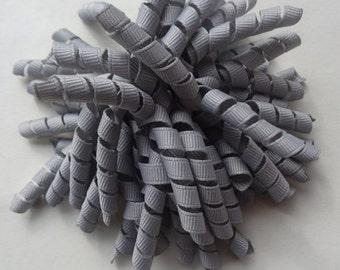 Grey Pom Pom Corker Hair Bow grey korker ready to ship