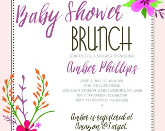 Baby Shower Brunch Digital Download