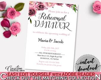 Rehearsal Dinner Invitation Bridal Shower Rehearsal Dinner Invitation Floral Bridal Shower Rehearsal Dinner Invitation Bridal Shower BQ24C