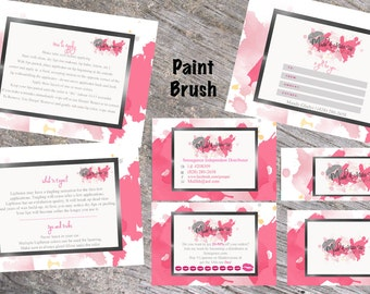 LipSense Branding/Marketing Printable Kit; Business cards, loyalty cards, application cards, what to expect cards, gift certificate, banner