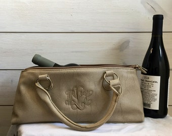 Personalized Insulated Lunch Purse - Wine Tote - Lunch Bag - insulated Wine Purse - Wine Purse