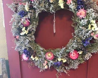 Natural Dried Caspia Wreath
