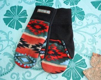 Women's Aztec Fleece Mittens