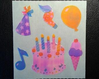 Sandylion Stickers Pearl  Scrapbooking Vintage Pearly Happy Birthday   (1 mod)