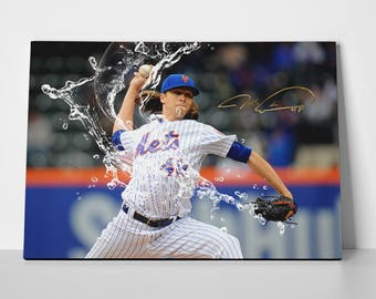 Jacob DeGrom Poster Limited Edition Mets Canvas | Jacob DeGrom Poster