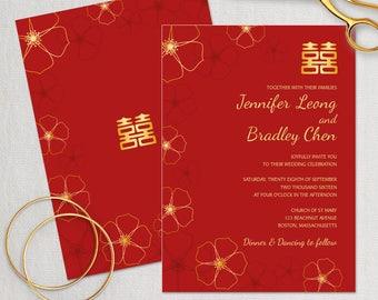 chinese invitations | etsy, Wedding invitations