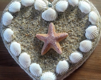 Seashells and Sand Heart