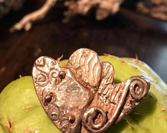 Pendant series love-MY heart, YOUR heart-respect and love. jewel in bronze.