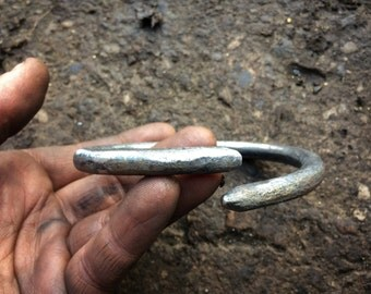 6mm bar hand forged iton bangle