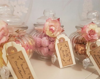 Decorative Personalised Vintage Jars of Sweets