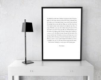 Beauty Poem Print, Printable Amore, Amore Wall Art, Amore Digital Print, Beauty Poster, Time Tested Beauty Tips, Sam Levenson