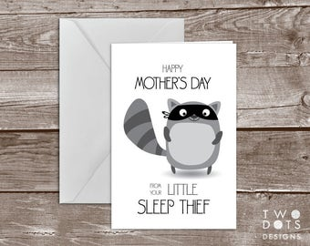 5x7 Printable Mother's Day Card - Sleep Thief, Happy Mother's Day, Mother Card, Mom Card, Card for Mom, Card from Baby