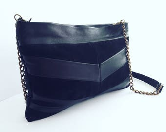 Black leather purse. Black purse bag. Leather clutch bag. Leather crossbody. Leather black purse. Clutch purse bag