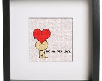 Big Love Cross Stitch Pattern For Valentine's Day