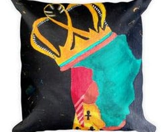 Queen Africa Square Pillow