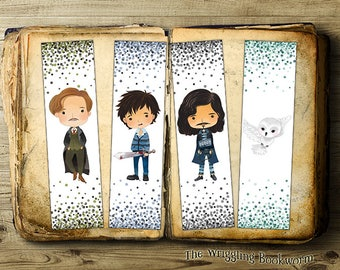 Printable Harry Potter Bookmark Set | Remus Lupin | Neville Longbottom | Sirius Black | | Hedwig | Owl | Best Friends | Instant Download