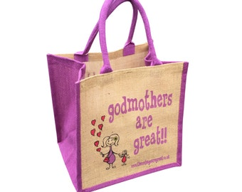 Godmothers Are Great Jute Shopping Bag