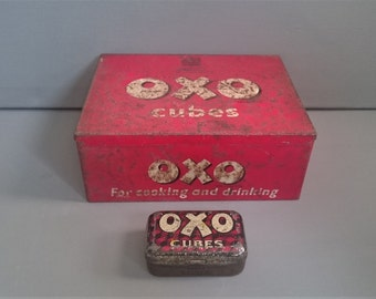OXO Vintage Tins One large and One Small.