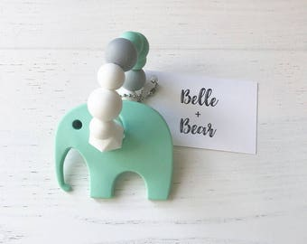 NELLY Teether in MINT | Teething toy | Baby gift |
