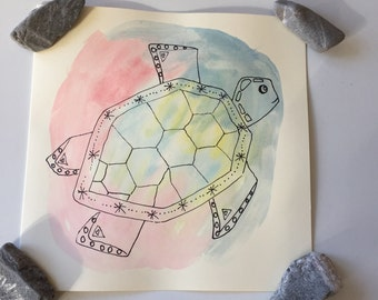 Turtle cards // Sea Turtle // Birthday cards // Anniversary cards // Wedding cards //