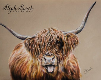 Hamish the Highland Cow -  Fine Art print Cattle print