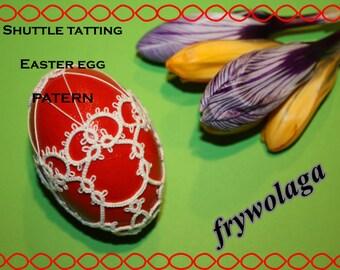 Easter egg  nr 3- shuttle pattern PDF