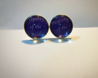 Property of the bride cufflinks