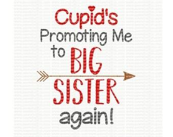 Big Sister Again SVG, cutting file, big sister, vinyl file, svg, valentines, svg file, cameo file, big sister svg, cricut, big sister again