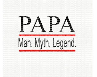 Papa SVG, cutting file, vinyl file, svg, svg file, cameo file, cricut, fathers day, papa, cameo, grandpa, fathers day svg, papa svg