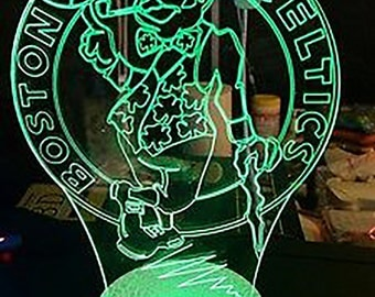 Boston Celtics 3D Night Lamp, 3D Night Light Children Light Home Decor Illusion light