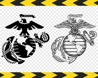 USMC SVG US Marine corps logo Army Marines Military Decal Silhouette Cricut designs Clipart Dxf Pdf Png files