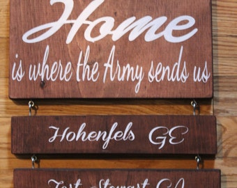 Home is where the (military) sends us