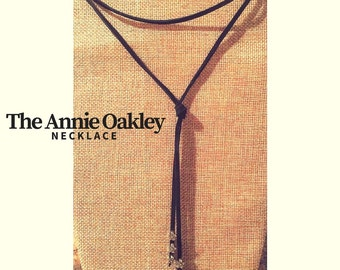 The Annie Oakley // Black Y Choker Necklace //