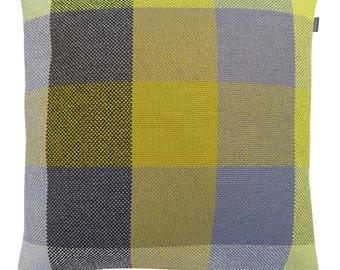 HOOK & EYE - Dekokissen fat Bo Plaid yellow