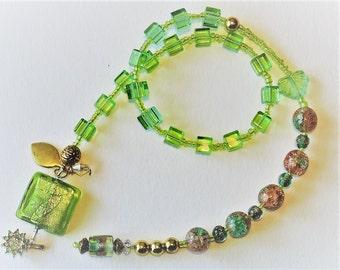 Green Glass Baha'i Prayer Beads