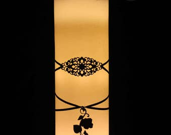 """Candle """"Spooky Cand'Hell"""" led Ribbon and print."""