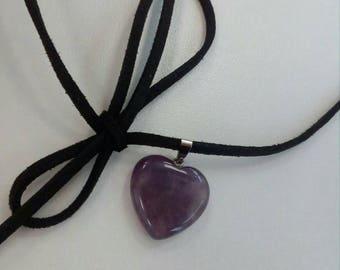Amethyst violet necklace