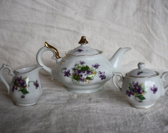 Vintage Tea Set - Set of 3 - Norcrest Fine China - England