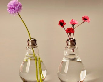 1 Pc Glass Light Bulb Vase