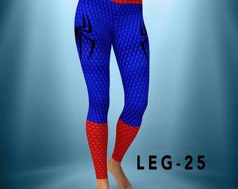 "Custom Leggings / Yoga Pants ""Spiderman suit"" -  FAST SHIPPING"