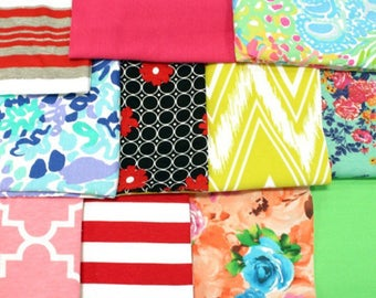Mystery mix of Girl Charlee 1/4 yard scrap pieces-perfect for headbands or other small projects