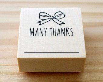CLEARANCE SALE - Rubber stamp - many thanks