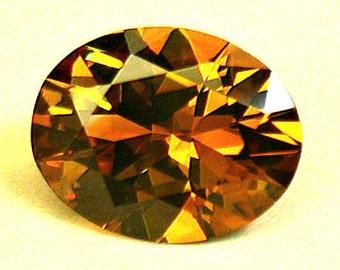 VINTAGE MONTANA Rock Creek SAPPHIRE Orange Faceted oval 1.12 cts src10