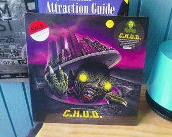 """C.H.U.D. vinyl record album original soundtrack waxwork LP """"Toxic Waste"""" variant"""